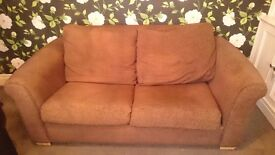 Chocolate Brown sofa bed .in excelent condition