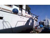 Liveaboard 60ft motor yacht.Twin diesels.Moonlight.renovation project