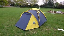 2 Person Mountain Craft Tent- lovely and bright, perfect for weekend camping.