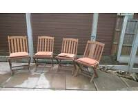 Hardwood Garden/Patio Chairs