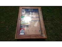 Vintage Timber Glass Key Cabinet Wall Mounted MOD Guard Room Arms Warehouse