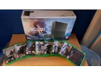 XBOX ONE S 1TB BATTLEFIELD 1 EDITION CONSOLE WITH 8 GAMES (OPEN TO OFFERS)