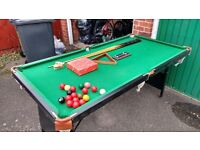 Snooker table - 6 x 3 with balls