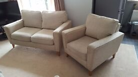 Harveys two-piece suite - two seater sofa & armchair