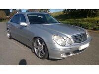 MERCEDES 320 CDI E CLASS AUTOMATIC LOWERED STAGGERED ALLOYS AND NEW MULTIMEDIA HEAD UNIT