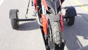 Trailer-In-A-Bag by Stinger Made In canada HD Motorcycle Trailer Stores in the truck of a car