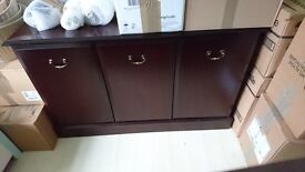 Free for uplift. 4ft morris solid mahogany display cabinet