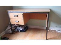 Office Desk with 2 lockable drawers