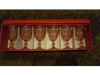 Glasses x6 boxed with lid