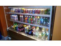 coffee shopdrink stainless still display fridge