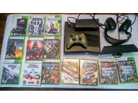 XBOX 360S WITH 13 CD GAMES AND 20 DOWNLOADED GAMES