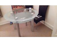 Glass dining table +chairs