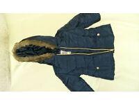 Girls 6-9 month Navy Blue coat