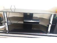 BRAND NEW MATRIX BLACK GLASS TV STAND