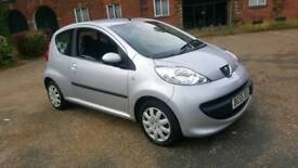 PEUGEOT 107 + 12 MONTHS MOT + LOW MILEAGE + £20 TAX + FSH not toyota aygo citroen c1