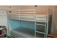 Metal Bunk Beds& mattress 1 year old...paid £299