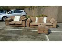 Jumbo cord sofa 3+2 ( free delivery )