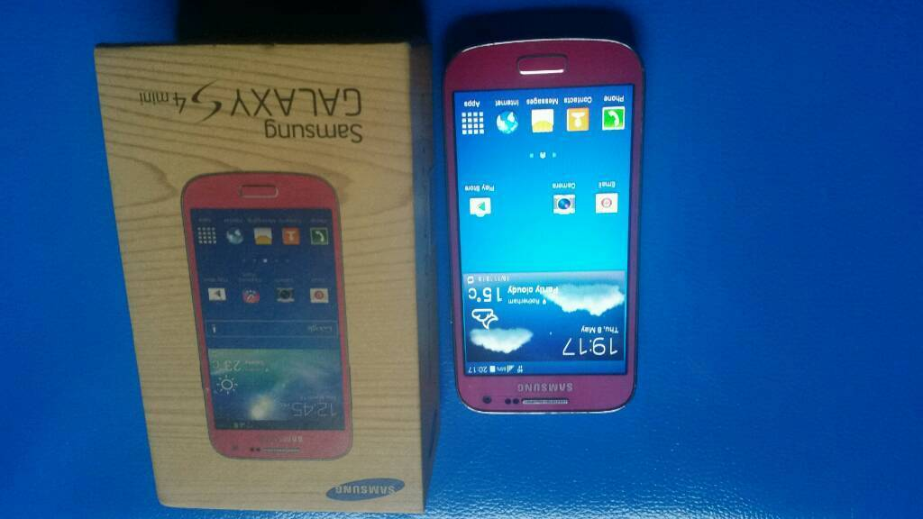 Samsung Galaxy s4 Mini pink Colourin Sheffield, South YorkshireGumtree - Samsung Galaxy s4 Mini pink ColourAll buttons WiFi both cameras vibration mic speaker loud speaker everything in working condition It have some wear and tear on sides but screen is immaculate condition as all life been in screen protectorIt comes...