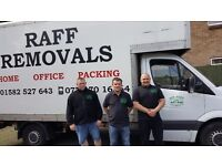 Raff and Van, man and van for house removals in Luton, Dunstable, Bedfordshire and Hetfordshire