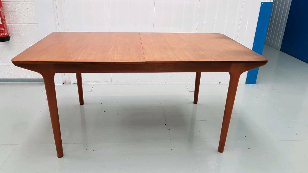 retro mcintosh teak extendable vintage dining table 1973 - Dining Table Retro