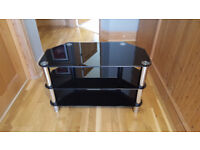 tv stand black glass and silver, corner tv stand