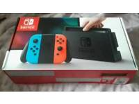 Nintendo Switch Console Neon Red and Blue