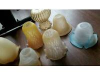 11 x Vintage/Victorian style glass lampshades