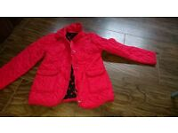 Girls red coat age 9-10