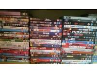 selection of dvds,
