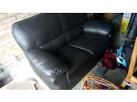 FREE 5ft black leather couch
