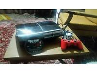 Sony playstation 3 with controller and bo3