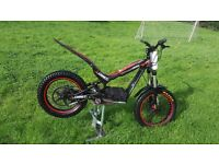 Oset 20.0 (racing) 48v childs trials bike with real trials rear wheel, tyre, receipts and extras