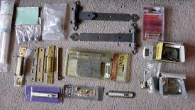 selection of door furniture - locks, knobs, plates, hinges