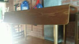 Large drop leaf dining table