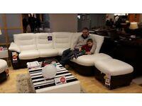brand new white 3 seater corner sofa