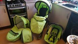 Hauck apollo 4 lime green travel system