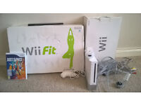 Wii, with Wii Fit and Wii Just dance