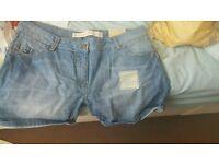 Next denim shorts size 16