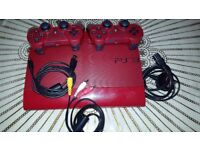 PS3 Super Slim Console Red (Faulty Disc Drive)