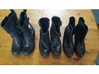 Womans Leather boots 3 pairs