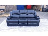 **WOW**7YEARS WARRANTY**RECLINER BONDED LEATHER JUMBO CORD CORNER SOFA 3+2 SEATER