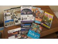 Selection of travel books.