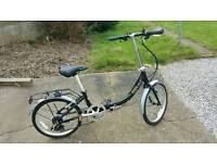 Apollo contour fold up bike with carry holdall