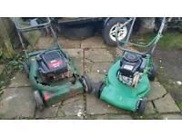 2 petrol lawnmowers spares or repair