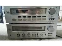 Toshiba vintage hifi amplifier and tuner