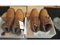Steel toe cap boots brand new never worn labels still attached size 8 2 pairs available
