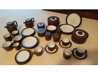BARGAIN! 42 PIECES of CONTRAST HORNSEA POTTERY