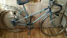 Ladies and gents vintage racing bikes