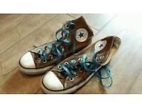 Genuine Converse hi-tops size 4
