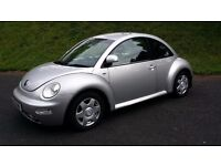 "VW BEETLE 2002 ""51"" SILVER VERY TIDY & CLEAN CONDITION WITH 68000 MILES FSH"